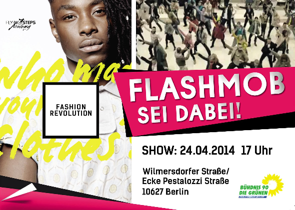 Flashmob zum Fashion Revolution Day am 24. April 2014